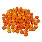 Colorfulife Artificial Lifelike Mini Orange Tangerine , Fake Fruit Model Party Home Decoration Teaching Props Photo Child Education Fruits House Kitchen Decorative (100, Tangerine)
