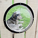 FMU Transparent Fence Window For Dogs, Helps Alleviate a Dog's Curiosity Within Confined Fences, It Can Be Easily Installed In Wood, Vinyl, And Other Materials Including Drywall (1)