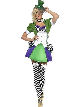 Fou Mlle Femme Au Fancy Alice Me Sexy Des Pays Merveilles Chapelier 9IWEDHY2