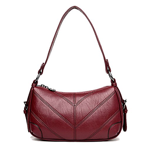 Trend Diagonal Winered Ajlbt Bag Korean The Package Soft Version Of Leather Bags Bag Fwq6nq1Tx