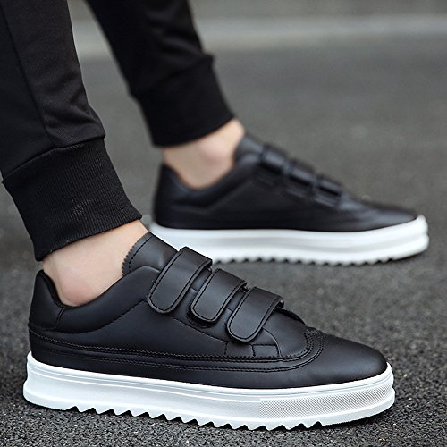 Men's Shoes Feifei Summer Leisure Comfortable and Breathable Velcro Plate Shoes 2 Colours (Color : Black, Size : EU39/UK6/CN39)