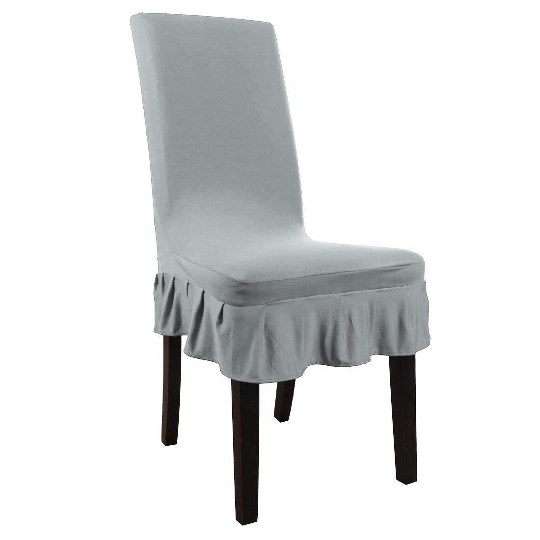 Sensational Buy Dealmux Dining Chair Covers Ruffled Skirt Stool Ncnpc Chair Design For Home Ncnpcorg