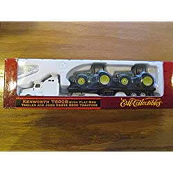 ERTL T600B w Flat-Bed Trailer and John Deere 8300 Tractors