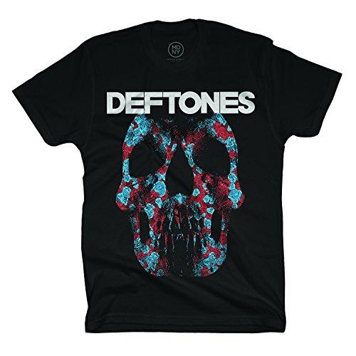 Deftones - Minerva Rose Skull - T-Shirt - Bla - MD