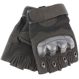 Mra Fashion ZaySoo Half Finger Motorcycle Riding Gloves with Wrist Wraps Support for , Workout, Cross Fit, Fitness…