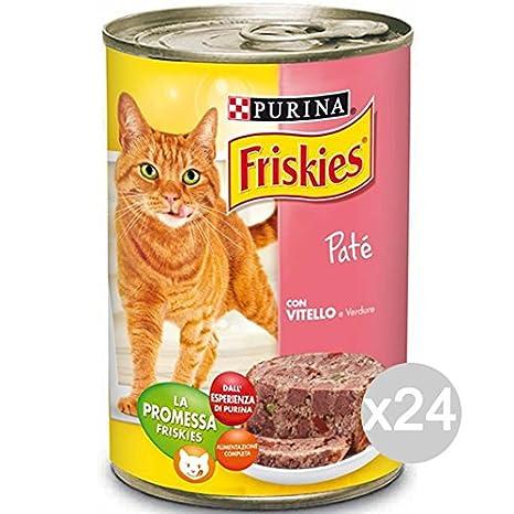 Friskies Juego 24 Gato Pate Becerro/Verd. Gr 400 Comida para Gatos