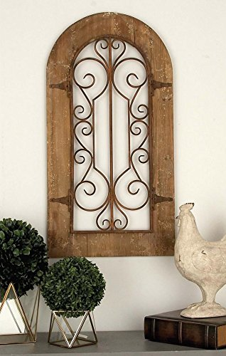 Metal Wood Arch Wall Panel Antique Vintage (Arch Metal Wall)