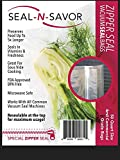 Premium Zipper Vacuum Storage Bags for Food Saver: Fits Foodsaver, Seal a Meal, Nutrichef, Geryon. BPA Free, FDA Approved, Freezer, Microwave, Sous Vide