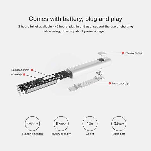Xiaomi Bluetooth Audio Receptor Bluetooth 4.2 Conectar Auriculares ...