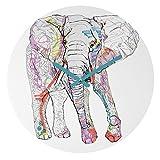 Deny Designs  Casey Rogers,  Elephant 1 , Round Clock, Round, 12