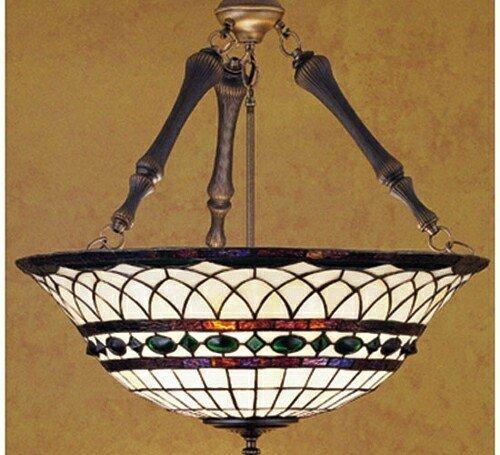 roman 3 light inverted pendant