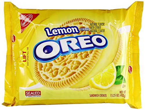 Oreo Lemon Creme Sandwich Cookies, 15.25 Ounce (Pack of 12) - Lemon Cream Sandwich Cookies