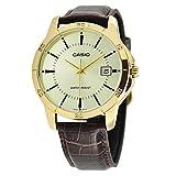Casio Men's MTP-V004GL-9A Date Quartz Watch with Genuine Leather