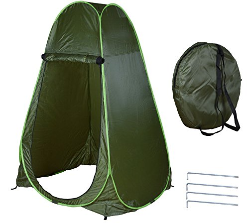 PROSPERLY U.S. Product Green Portable Pop Up Fishing & Bathing Toilet Changing Tent Camping - Mattress Banner Reviews