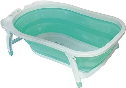 Babysun Baignoire Bebe Pliable Ultra Compacte 0 12 Mois Contenance 35l Turquoise Amazon Fr Bebes Puericulture