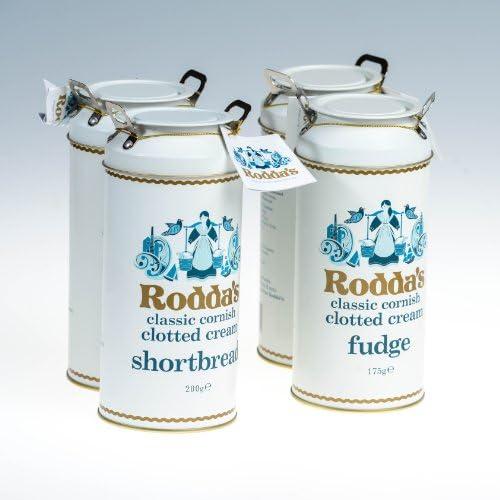 Rodda S Cornish Clotted Cream Shortbread Fudge Combo X4 Amazon Co Uk Grocery