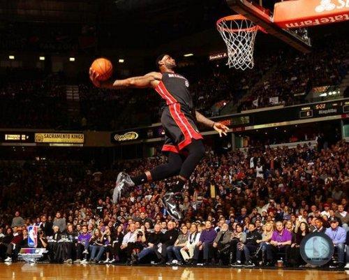 (LeBron James Miami Heat 2013-2014 NBA Photo (Size: 8