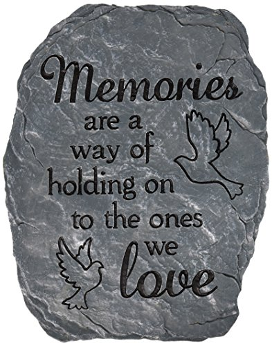 Carson Home Accents Garden Stone, 10.5-Inch by 8-Inch, Memories Love