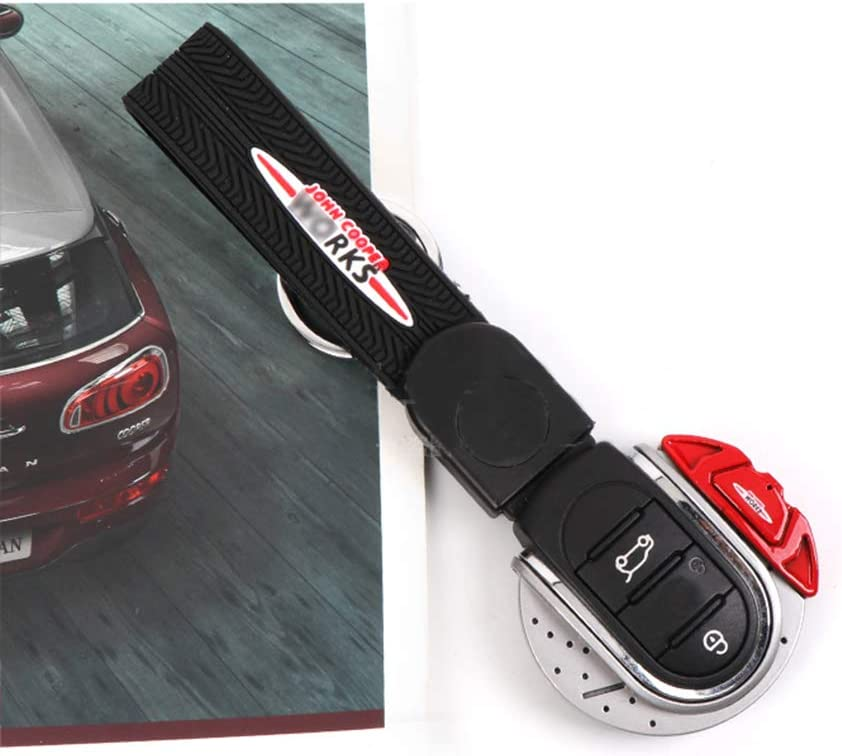 Car Key Bag Key Chain Shell Trim Key Ring Case Protector Cover For Mini Cooper S JCW One d F54 F55 F56 F57 F60 Car Accessories Red Glossy