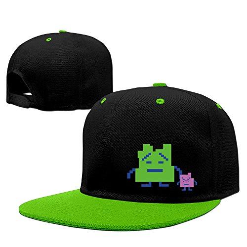 Fashion The Mooninites Hip Hop Snapback Baseball Cap KellyGreen - Pro Wool Adjustable Cap