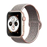 AdMaster Compatible for Apple Watch Band 38mm 40mm, Soft Nylon Sport Loop Replacement Wristband Compatible iWatch Apple Watch Series 4/3/2/1 Pink Sand
