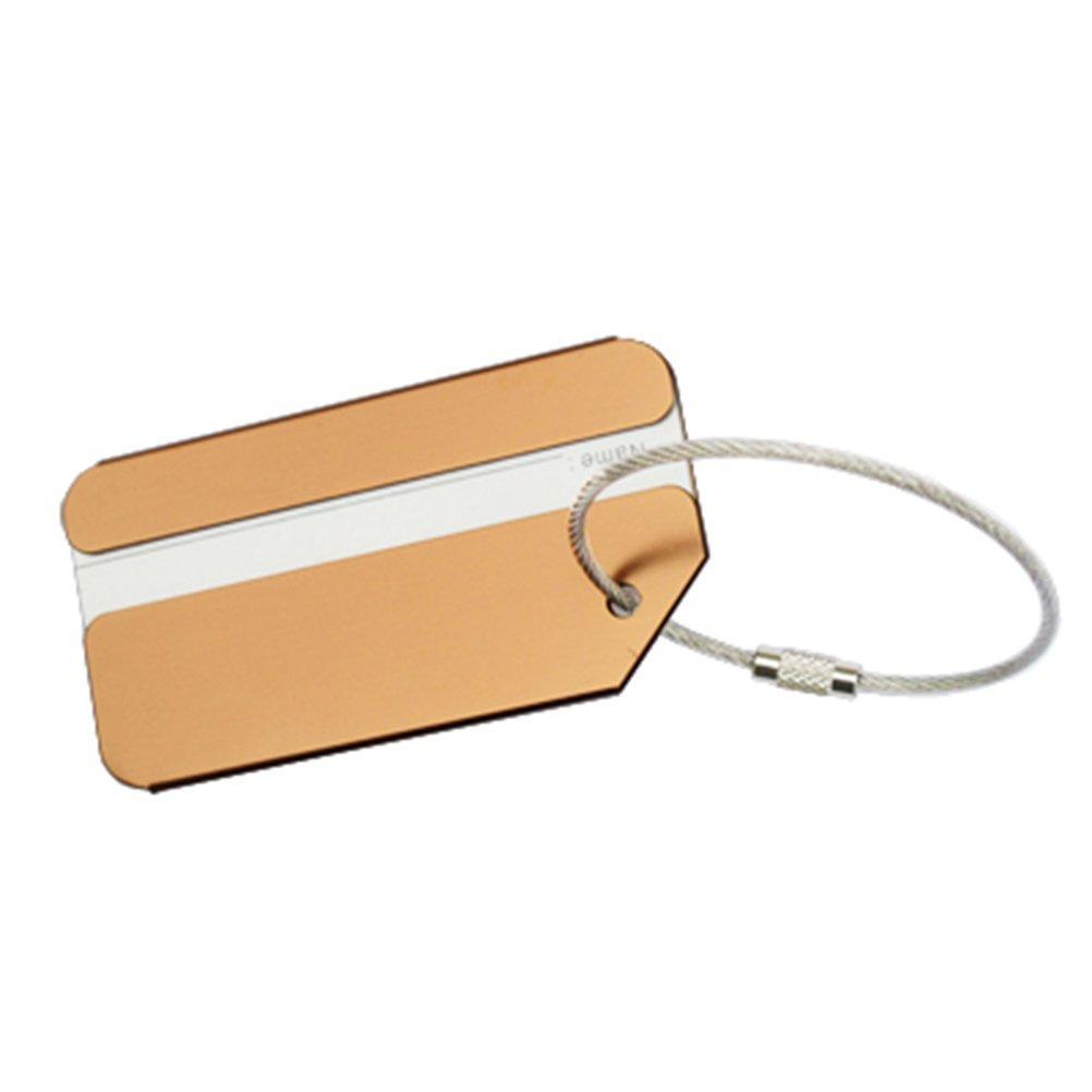 VORCOOL 7Pcs Luggage Tag Aluminum Travel Luggage Baggage Handbag Tag Fashion Environment Friendly Travel Luggage Tags by VORCOOL (Image #3)