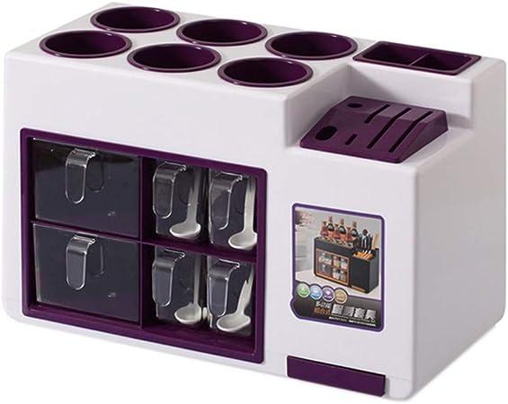ycdcj Botella de condimento, Estante de Cocina de múltiples Funciones, Caja de condimentos, botellero de Almacenamiento/portacubiertos, portacubiertos, 4 Colores Opcionales: Amazon.es: Hogar