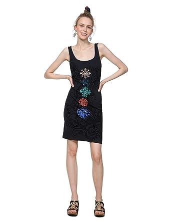 346d83f487fb8f Desigual Damen Kleid Dress Straps Coque Woman Black: Amazon.de: Bekleidung