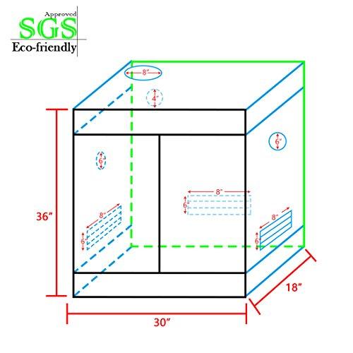 51NZOFI19YL - Quictent™ Mylar Reflective Hydroponic Grow Tent Hydro Dark Room Box Hut