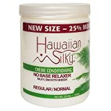Hawaiian Silky No Base Relaxer Regular, 20 oz, Creme Conditioning for all Hair Types & Styles
