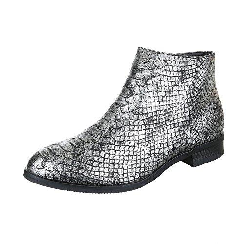 Ital-Design - Botas de Material Sintético para mujer plata