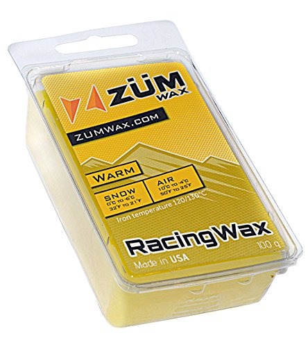ZUMWax Ski/Snowboard RACING WAX WARM Temperature 100 gram EXCELLENT SPRING WAX !!!