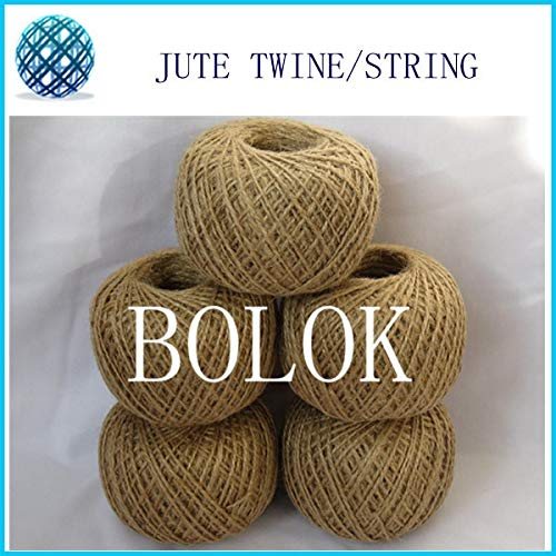 FINCOS 6pcs/lot Total 600m Natural 2MM Jute Twine (110yards/ball, 2 ply Twisted) DIY Jute Rope Twine