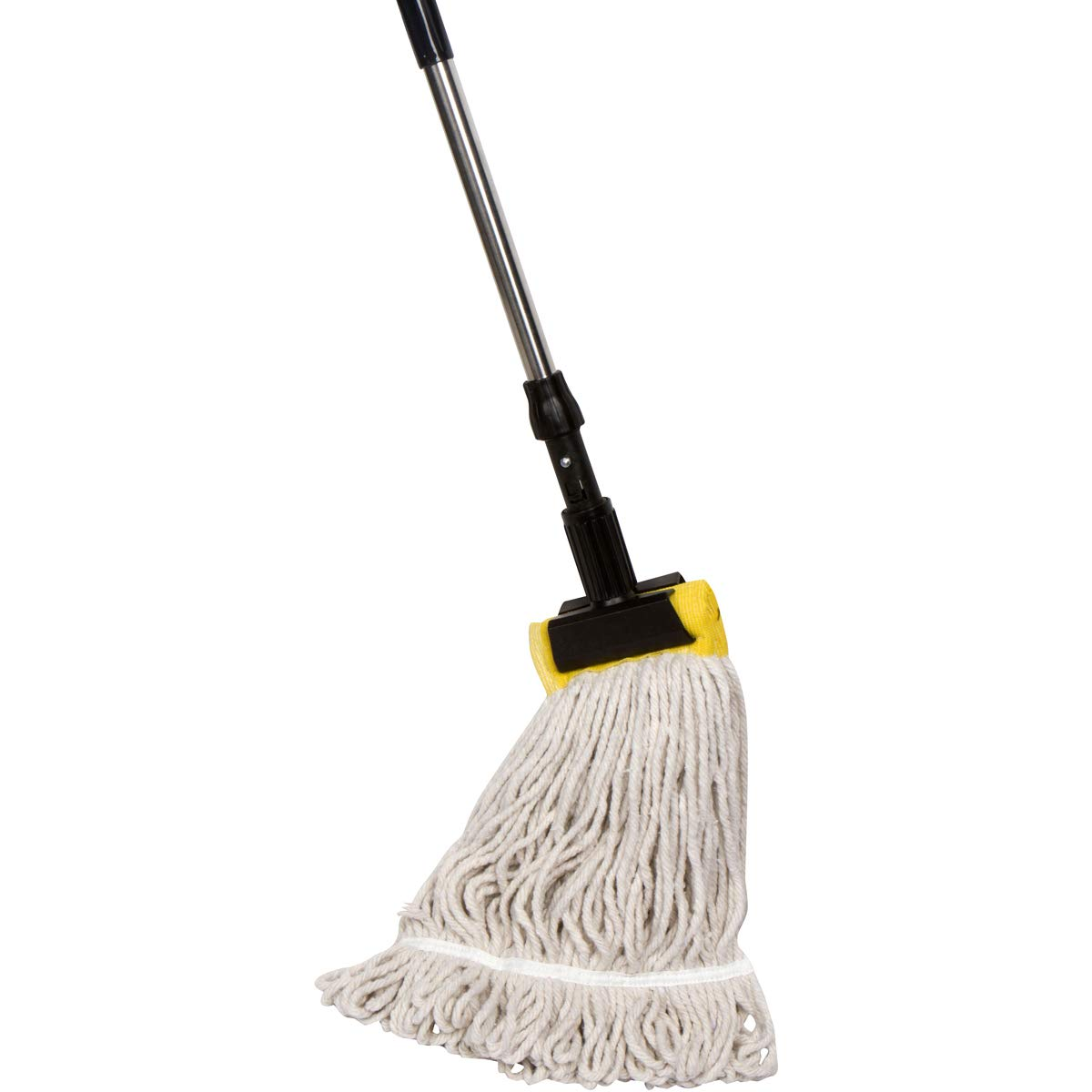 Tidy Tools Industrial Grade String Mop With Aluminum Handle and Jaw Clamp - 26 Oz Heavy Duty Cotton Mop Head With Looped Ends by Tidy Tools