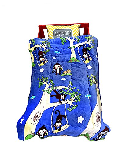 Dallas Park Hotel (Soft Children's Comfortable Baby Printed Borrego Reversible Blanket, Double Layered W/ Fleece. Perfect for Toddler Bed, Swaddling and Strolling. 40