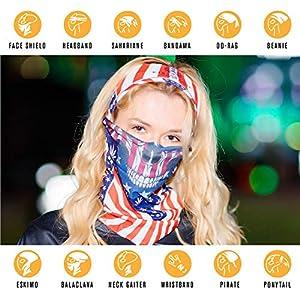 CyberBeast Seamless Dust Mask Bandana For Outdoor Sun, Wind, Dust Protection
