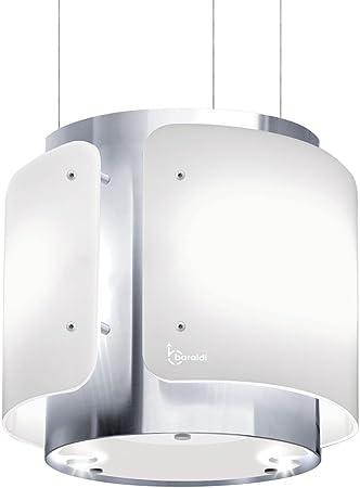 Baraldi Colgando Campana extractora de Cocina Dessy 40 cm, 800 M3/H, Cristal, Blanco/Acero: Amazon.es: Hogar