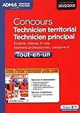 Concours Technicien territorial - Technicien principal - Catégorie B - Tout-en-un - Concours 2018-2019