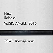REMOTE IMPROVE MUSIC ANGEL 35-Inch TV Sound bar & Satellite Speakers Wireless Subwoofer Stereo Speaker Bluetooth 4.0, Line-in, Used with Micro SD/TF, USB