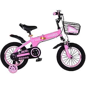 Minmin-chezi Bicicleta para niños Bicicleta Plegable para ...