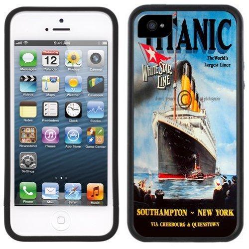 Titanic Ship Handmade iPhone 5 5S Black Bumper - Titanic Phone Case Iphone 5