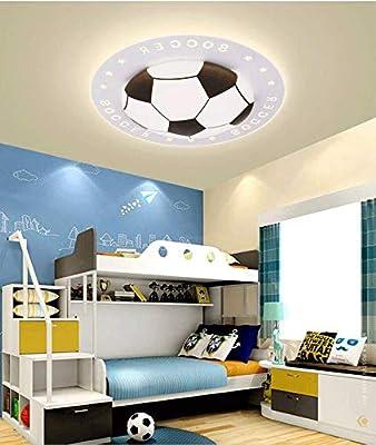 LITFAD Soccer-Patterned Dimmable LED Ceiling Light 20.5\