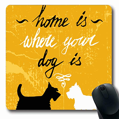 Ahawoso Mousepads Graphic Scottish Where Dog Terrier White Highland West Expression Oblong Shape 7.9 x 9.5 Inches Non-Slip Gaming Mouse Pad Rubber Oblong Mat