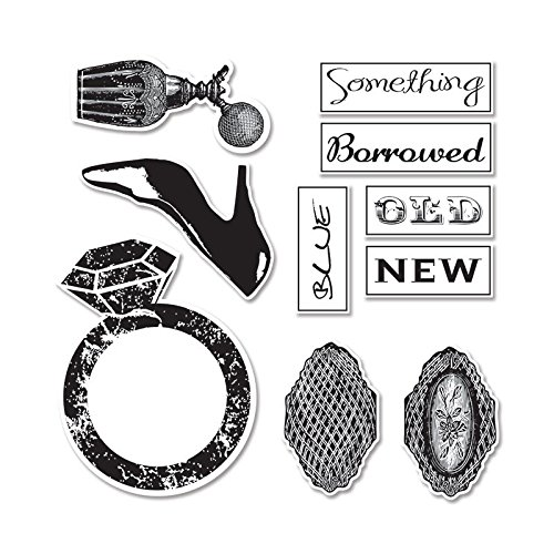 Sizzix Framelits Dies 7/Pkg With Cling Stamps By 7 Gypsies-Something Borrowed