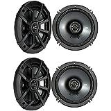 (2) KICKER 43CSC654 CSC65 6.5 600 Watt Car Audio Coaxial Speakers+Speaker!