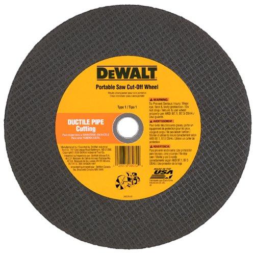 DEWALT DW8031 14-Inch by 5//32-Inch A24//C24P Abrasive Ductile Pipe Cutting Wheel