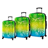 Mia Toro Dream Catcher Hardside Spinner Luggage 3pc Set, Love This Life