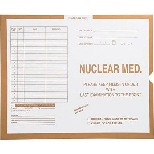 Nuclear Med., Buff - Category Insert Jackets, System I, Open Top - 10-1/2'' x 12-1/2'' (Carton of 250)