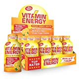 Vitamin Energy Shots – up to 7 Hours of Energy, More Vitamin C Than 10 Oranges, 0 Calories (48 Count)
