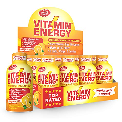 Vitamin Energy Shots - up to 7 Hours of Energy, More Vitamin C Than 10 Oranges, 0 Calories (48 Count)
